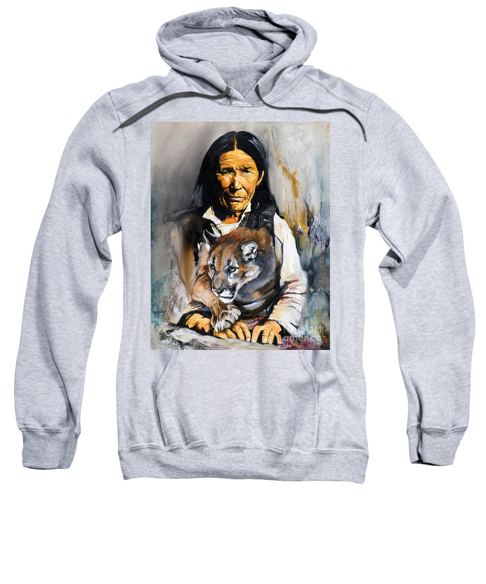 Spiritual Sweatshirt featuring the painting Spirit Within by J W Baker