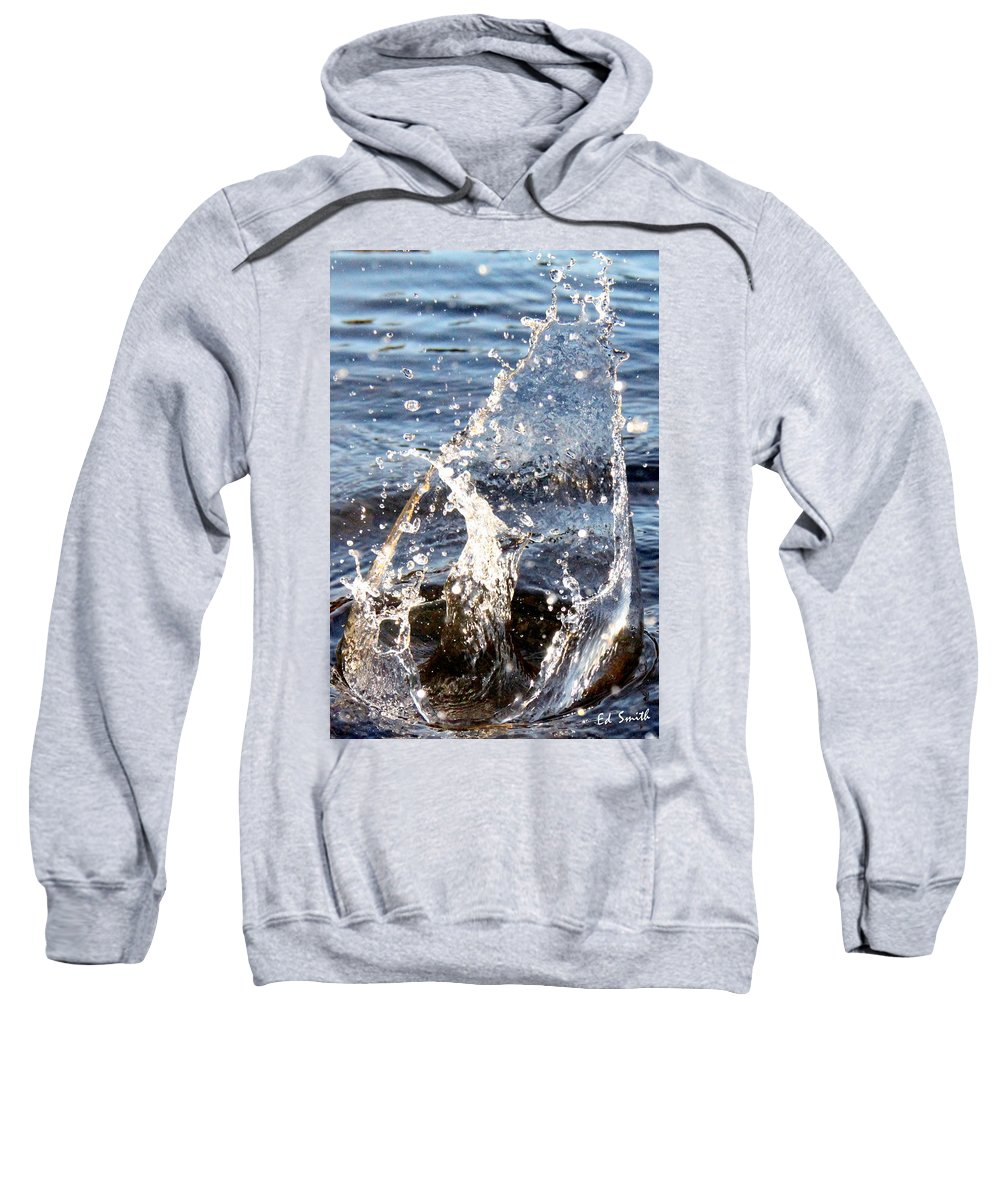Splash Dance Sweatshirt featuring the photograph Splash Dance by Ed Smith