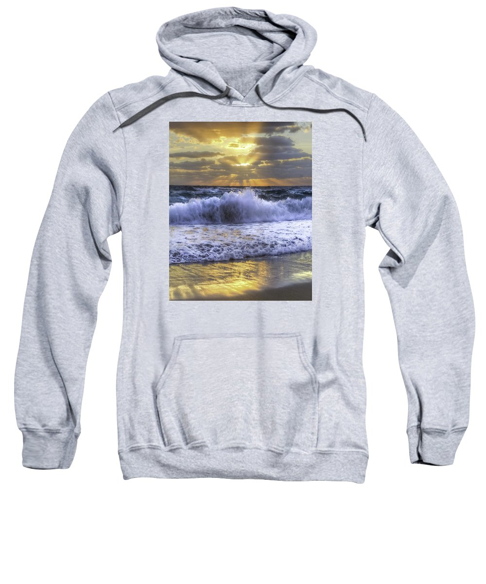 Clouds Sweatshirt featuring the photograph Splash Sunrise IIi by Debra and Dave Vanderlaan