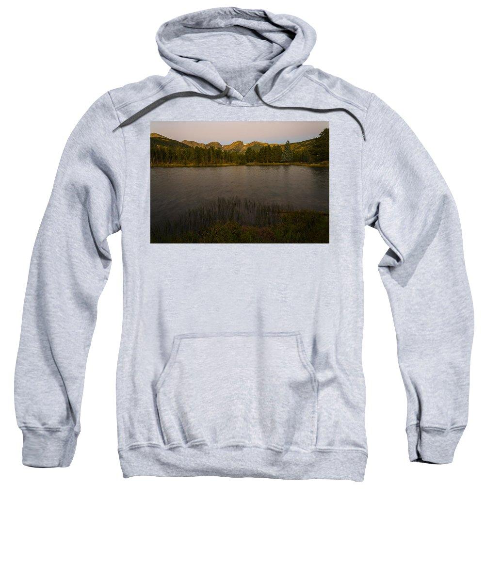 Colorado Sweatshirt featuring the photograph Sprague Lake by Gary Lengyel