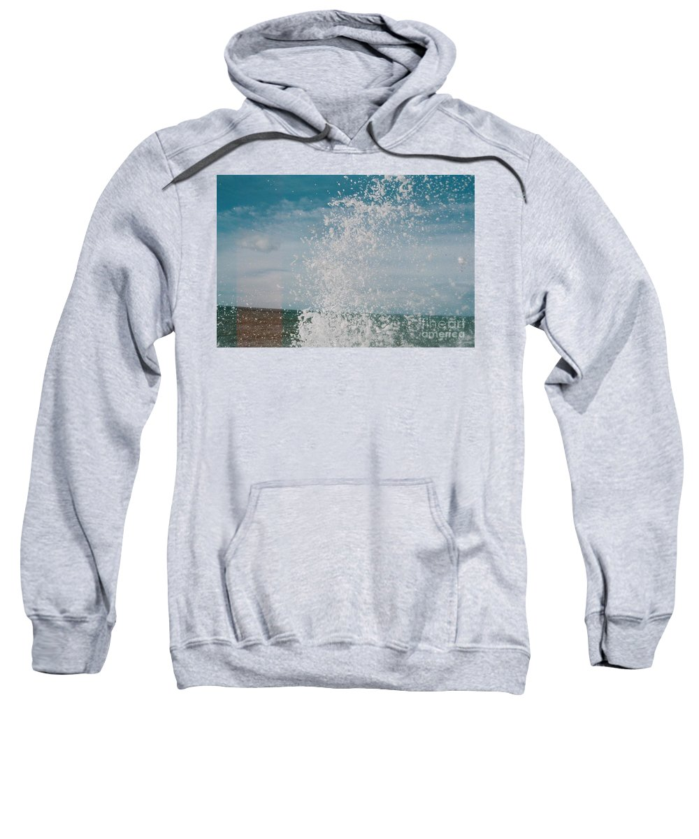 Spray Sweatshirt featuring the photograph Spray In The Bay by Karl A Hjatland