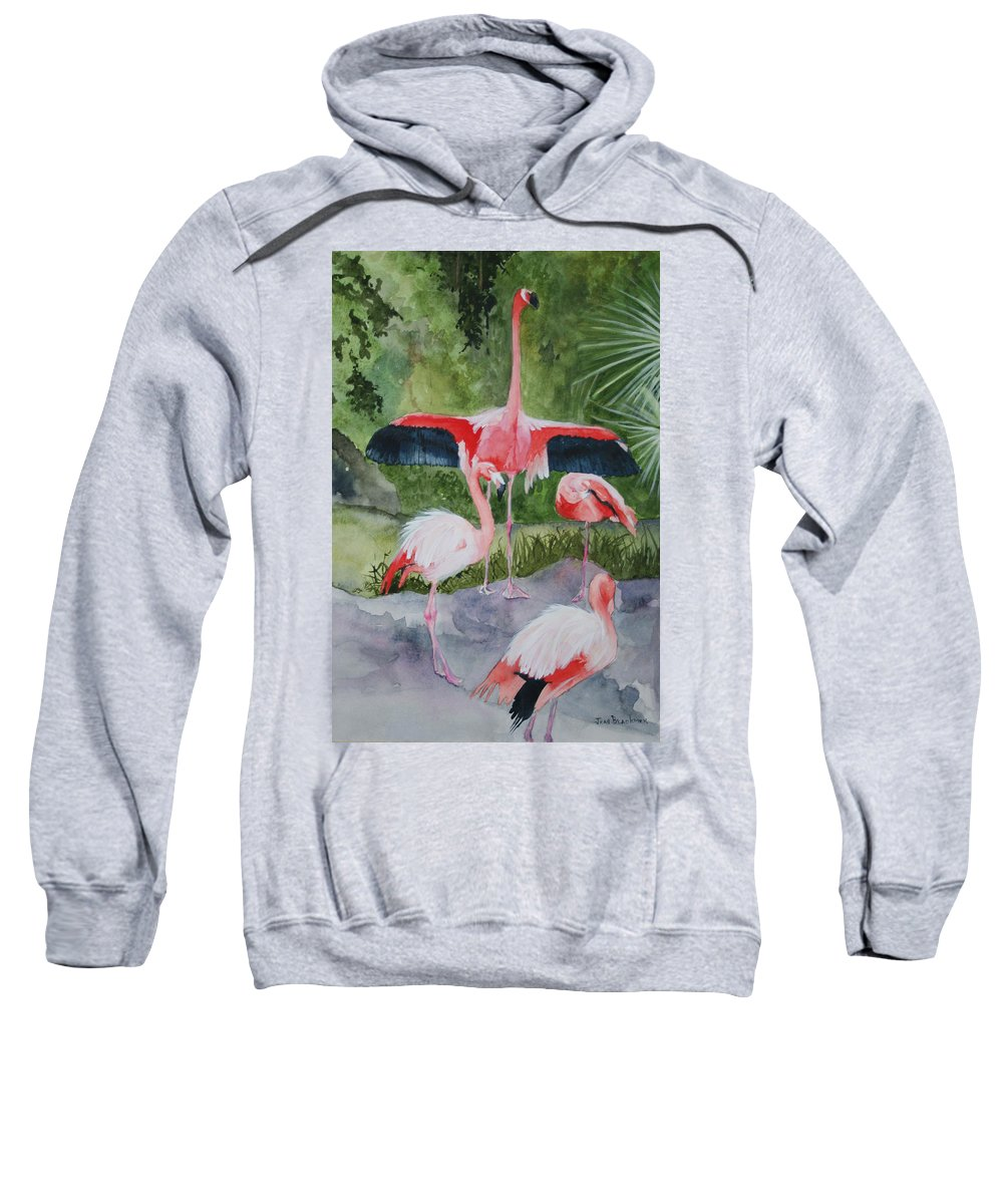 Wings Sweatshirt featuring the painting Spreading My Wings by Jean Blackmer