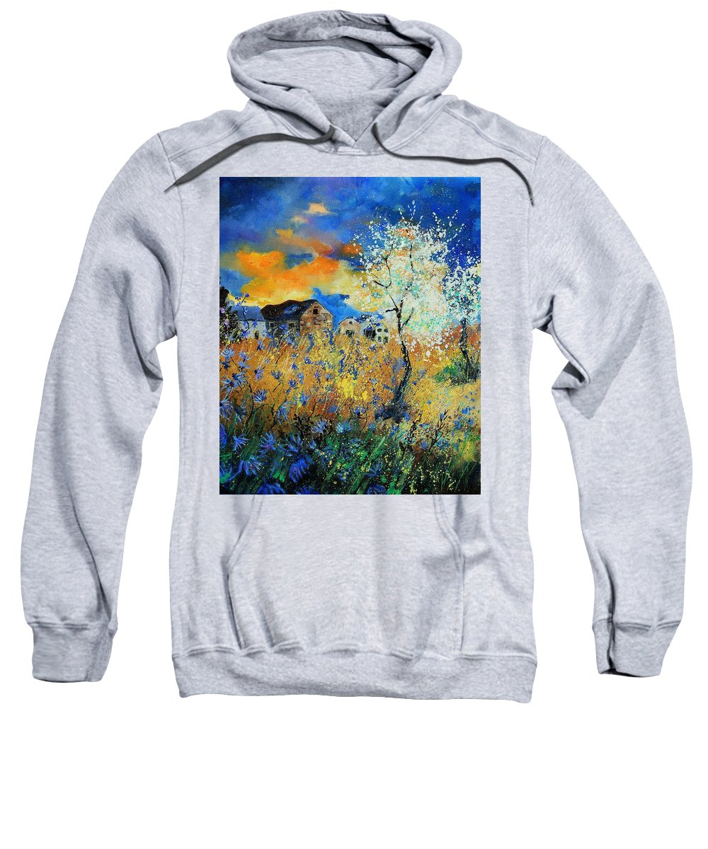 Flowers Sweatshirt featuring the painting Spring 67 by Pol Ledent