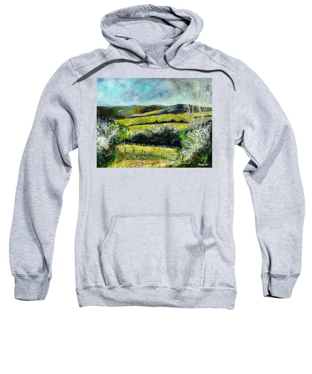 Landscape Sweatshirt featuring the print Spring 79 by Pol Ledent