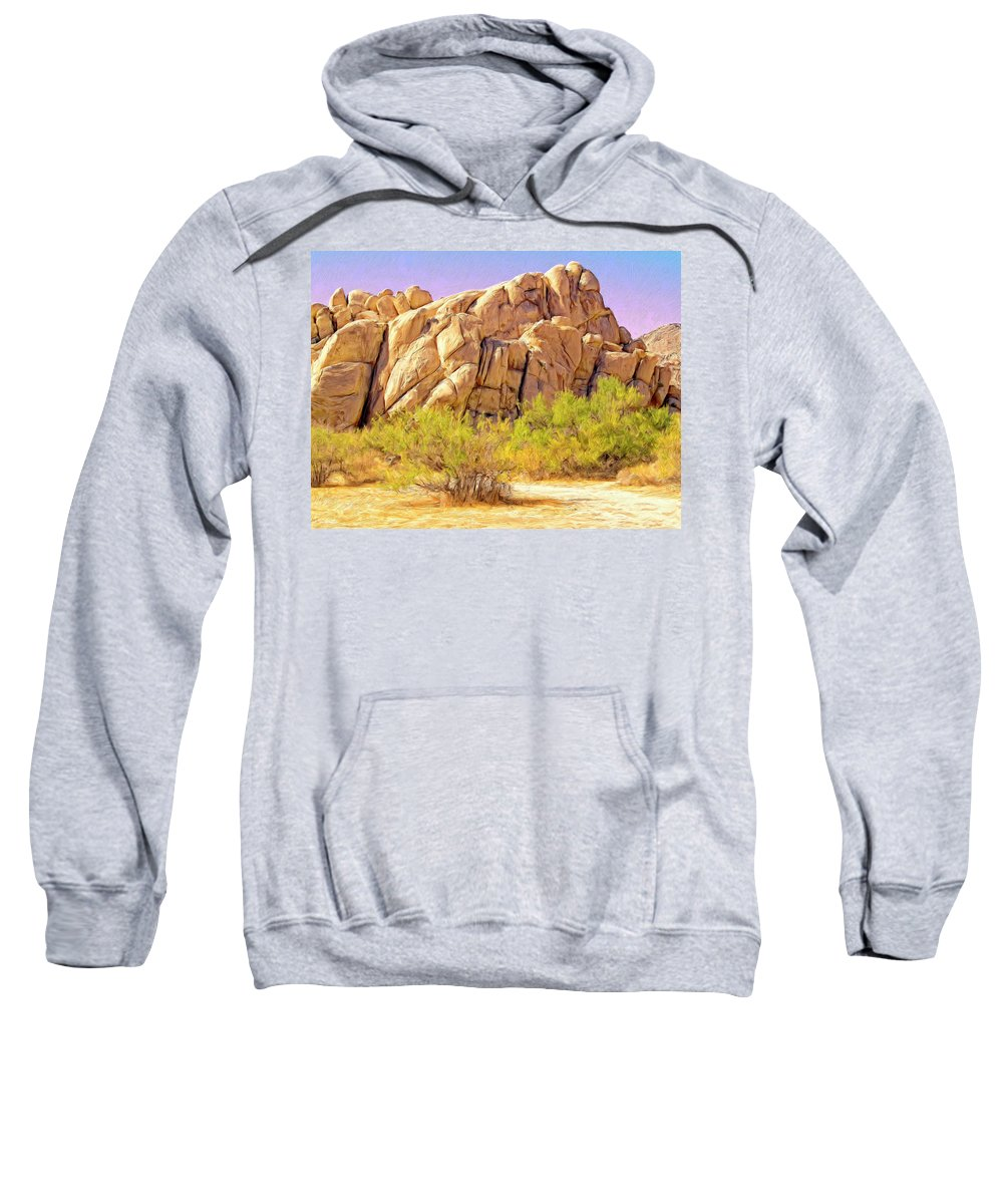 Desert Sweatshirt featuring the painting Spring At Joshua Tree by Dominic Piperata