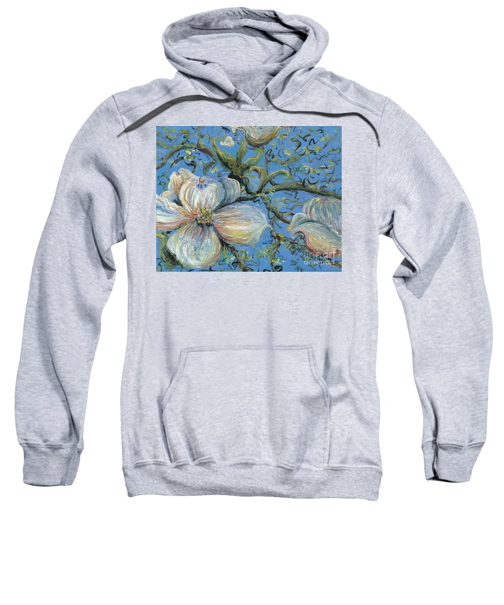 Flower Sweatshirt featuring the painting Spring Blossoms by Nadine Rippelmeyer