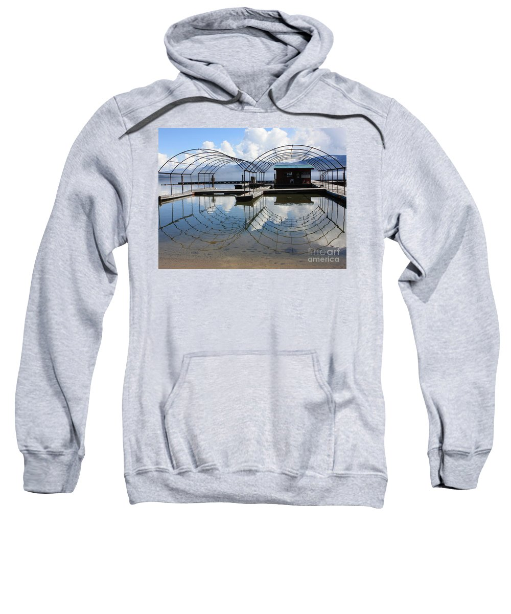 Spring Sweatshirt featuring the photograph Spring Docks On Priest Lake by Carol Groenen