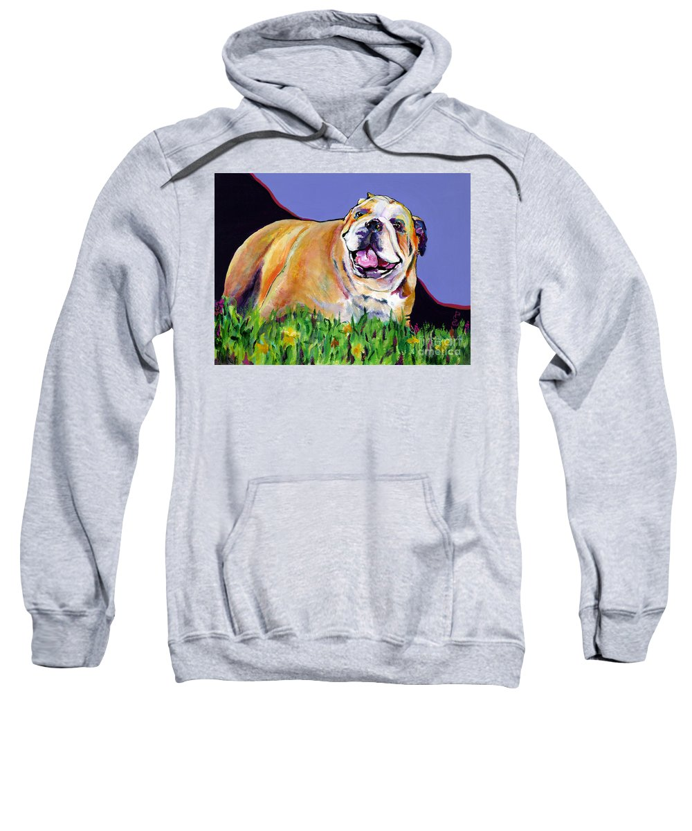 Pet Painting Sweatshirt featuring the painting Spring Fever by Pat Saunders-White