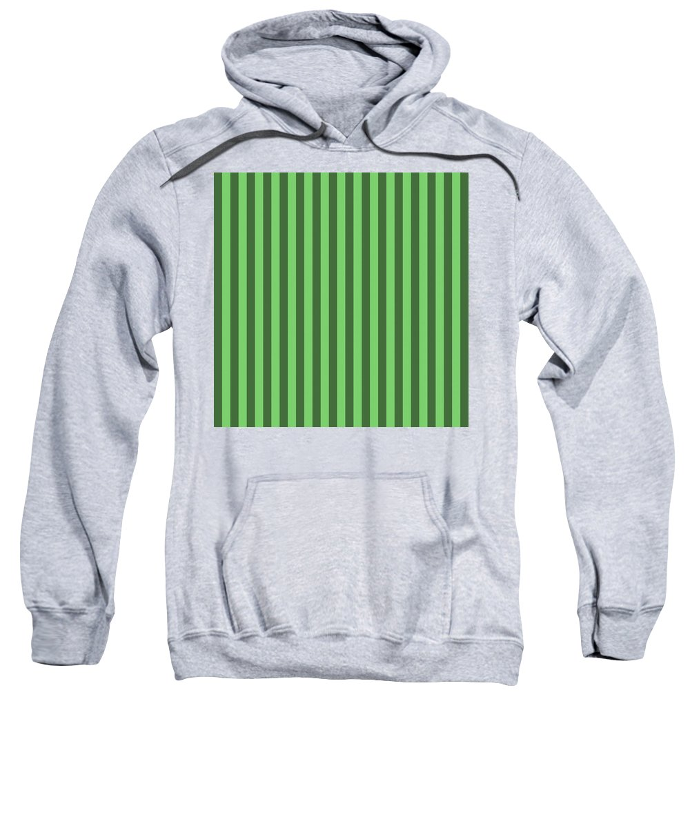 Spring Sweatshirt featuring the digital art Spring Green Striped Pattern Design by Ross