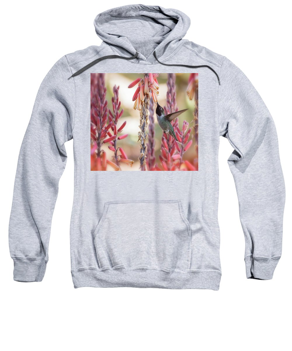 Hummingbird Sweatshirt featuring the photograph Spring Happiness by Saija Lehtonen
