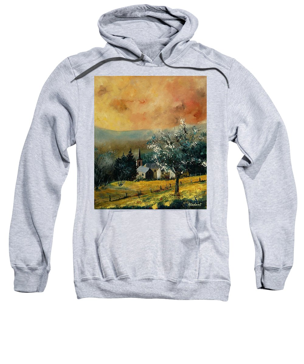 Spring Sweatshirt featuring the painting Spring In Gendon by Pol Ledent