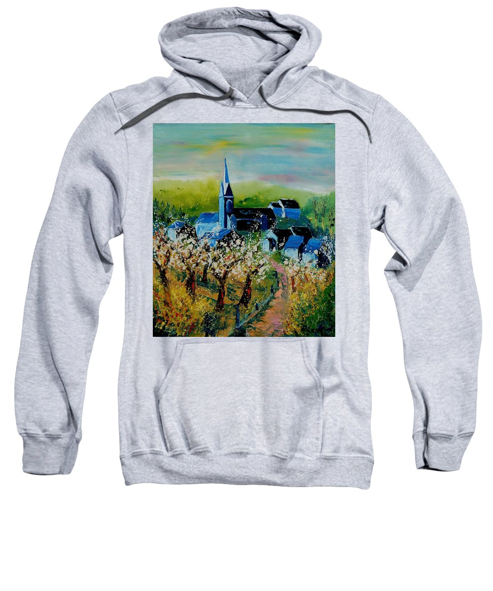 Spring Sweatshirt featuring the painting Spring In Redu by Pol Ledent