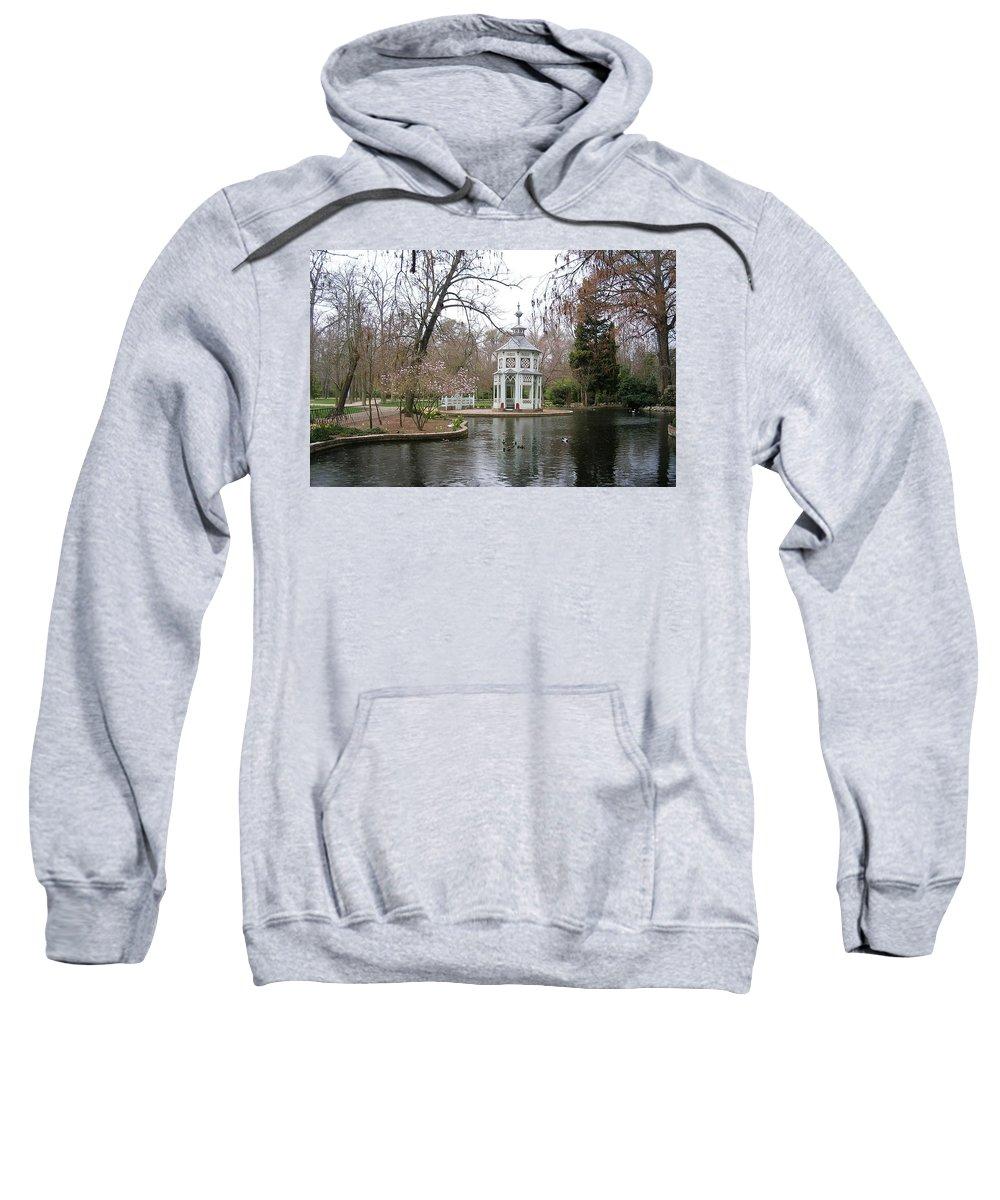 Landscape Sweatshirt featuring the photograph Spring In The Aranjuez Gardens Spain by Valerie Ornstein