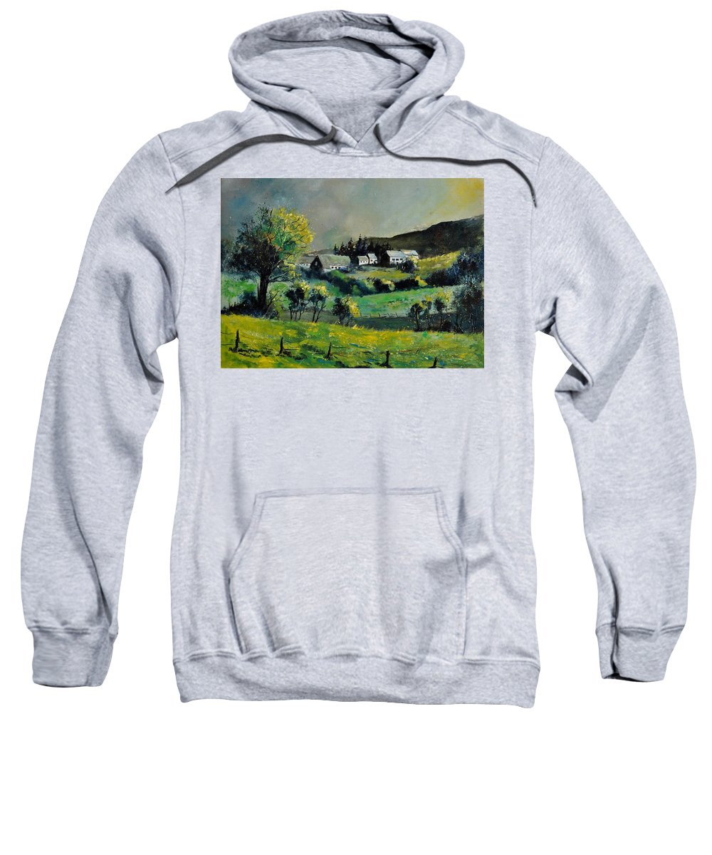 Landscape Sweatshirt featuring the painting Spring In Voneche by Pol Ledent