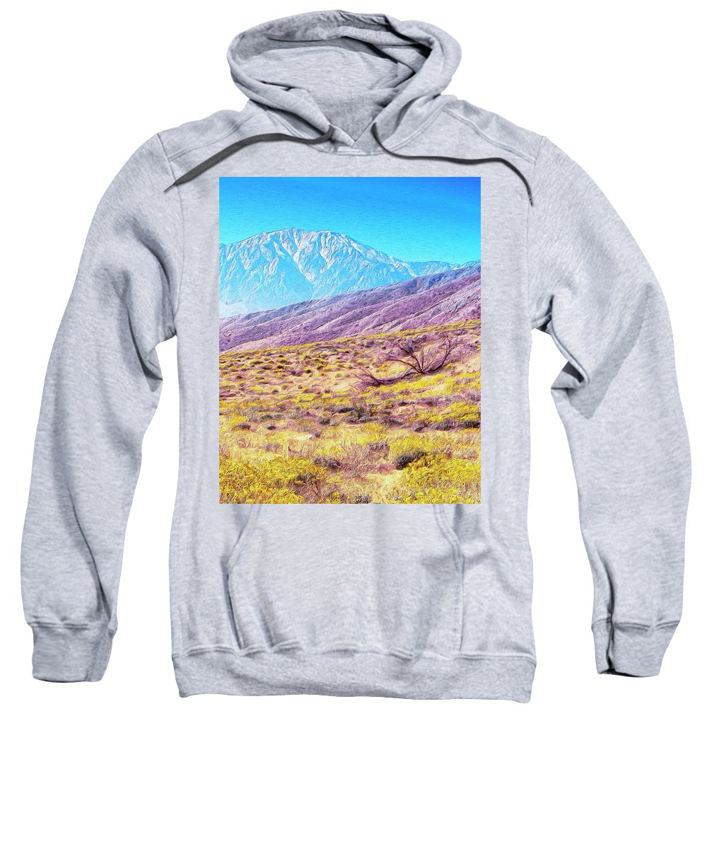 Desert Sweatshirt featuring the painting Spring In Whitewater Canyon by Dominic Piperata