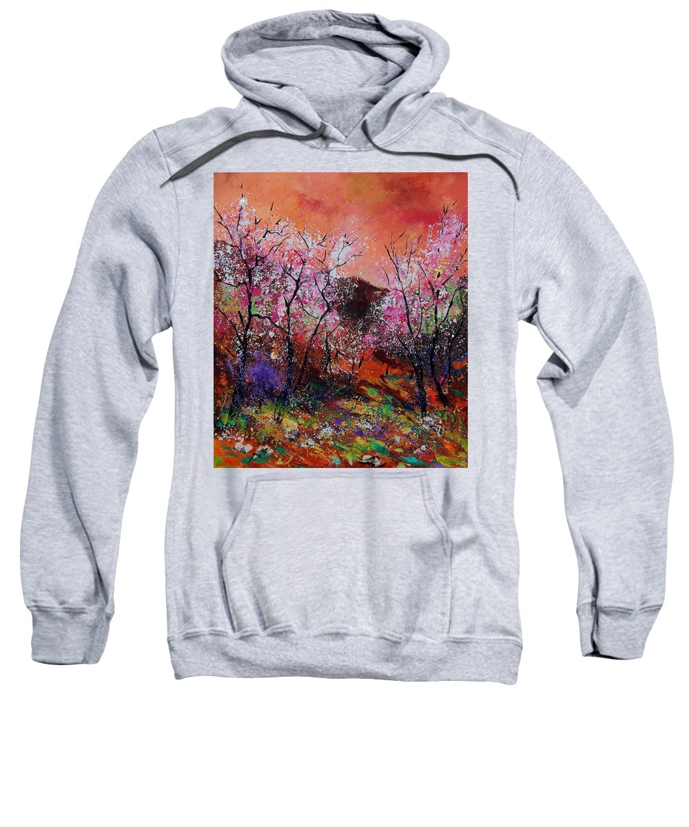 Spring Sweatshirt featuring the painting Spring Near My Home by Pol Ledent