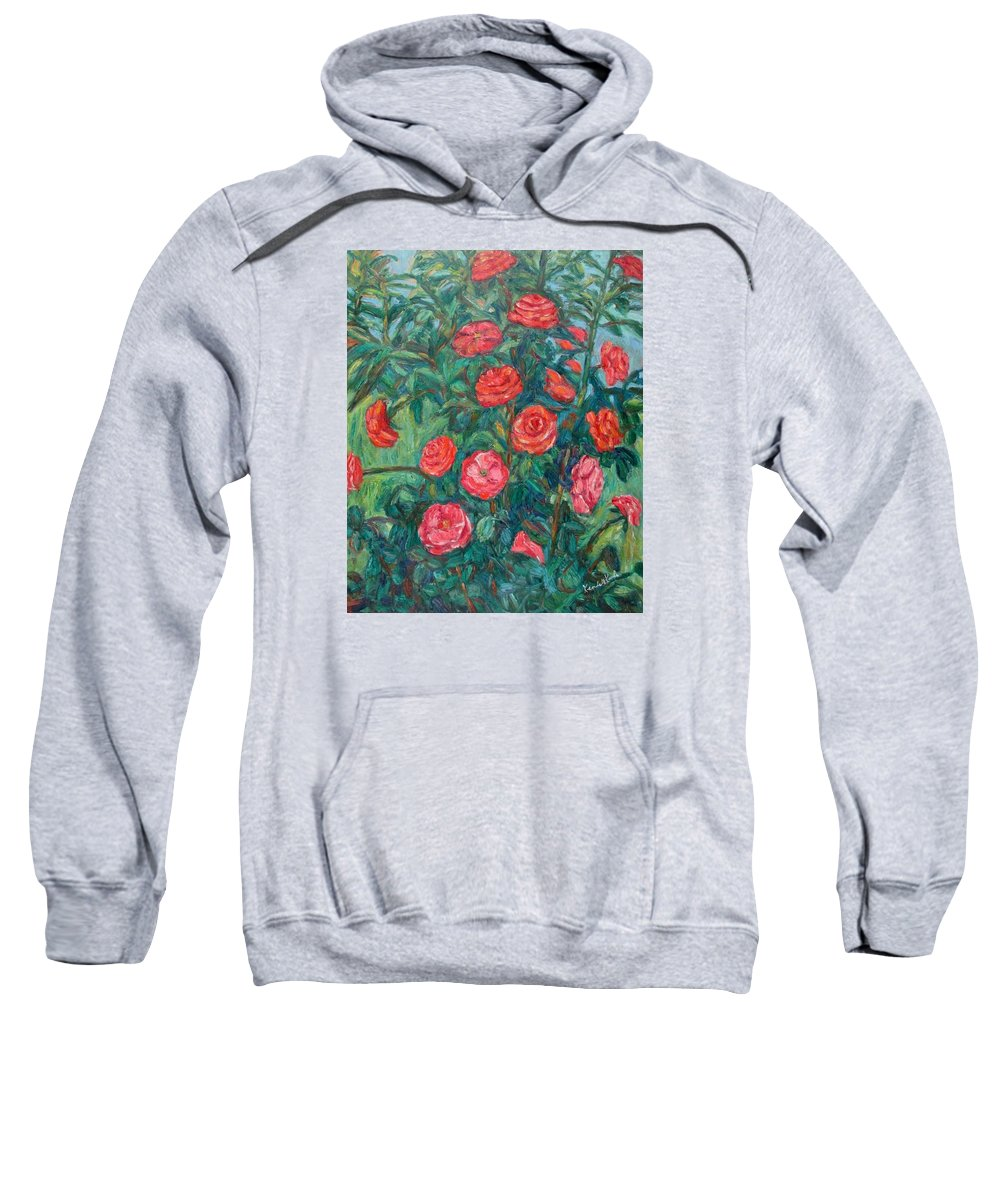 Rose Sweatshirt featuring the painting Spring Roses by Kendall Kessler
