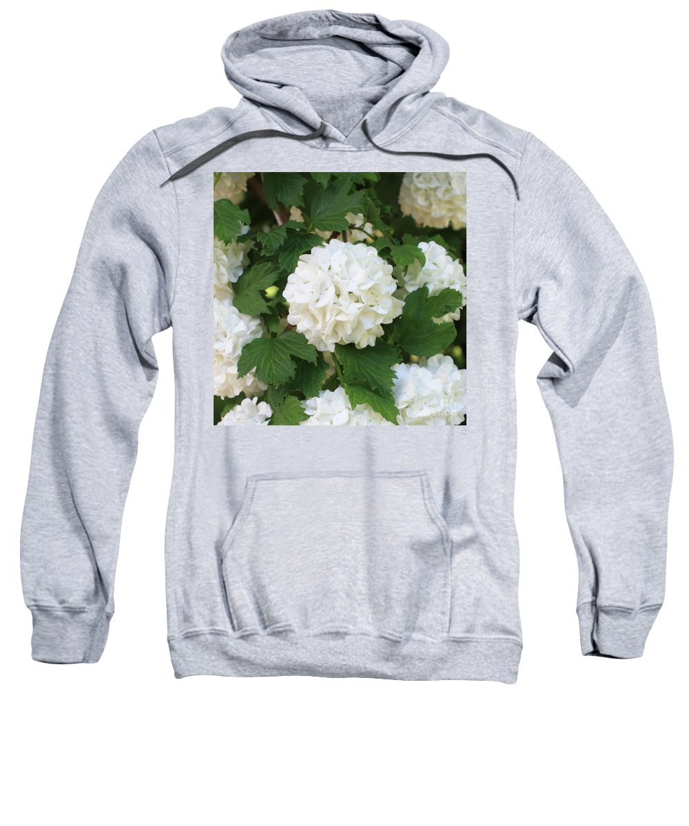 Snowball Tree Sweatshirt featuring the photograph Spring Snowball by Carol Groenen