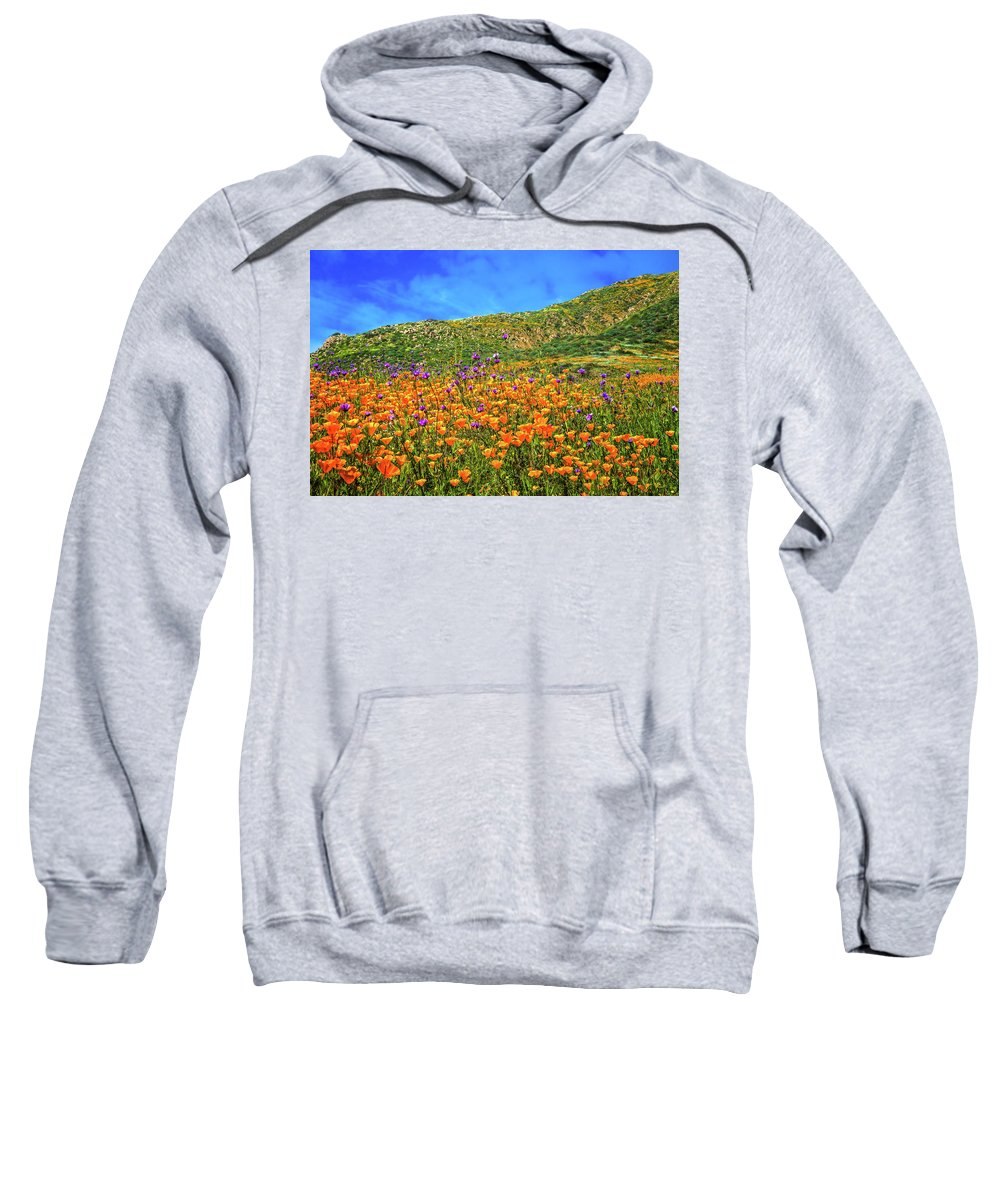 Walker Canyon Sweatshirt featuring the photograph Spring Superbloom In Walker Canyon by Lynn Bauer