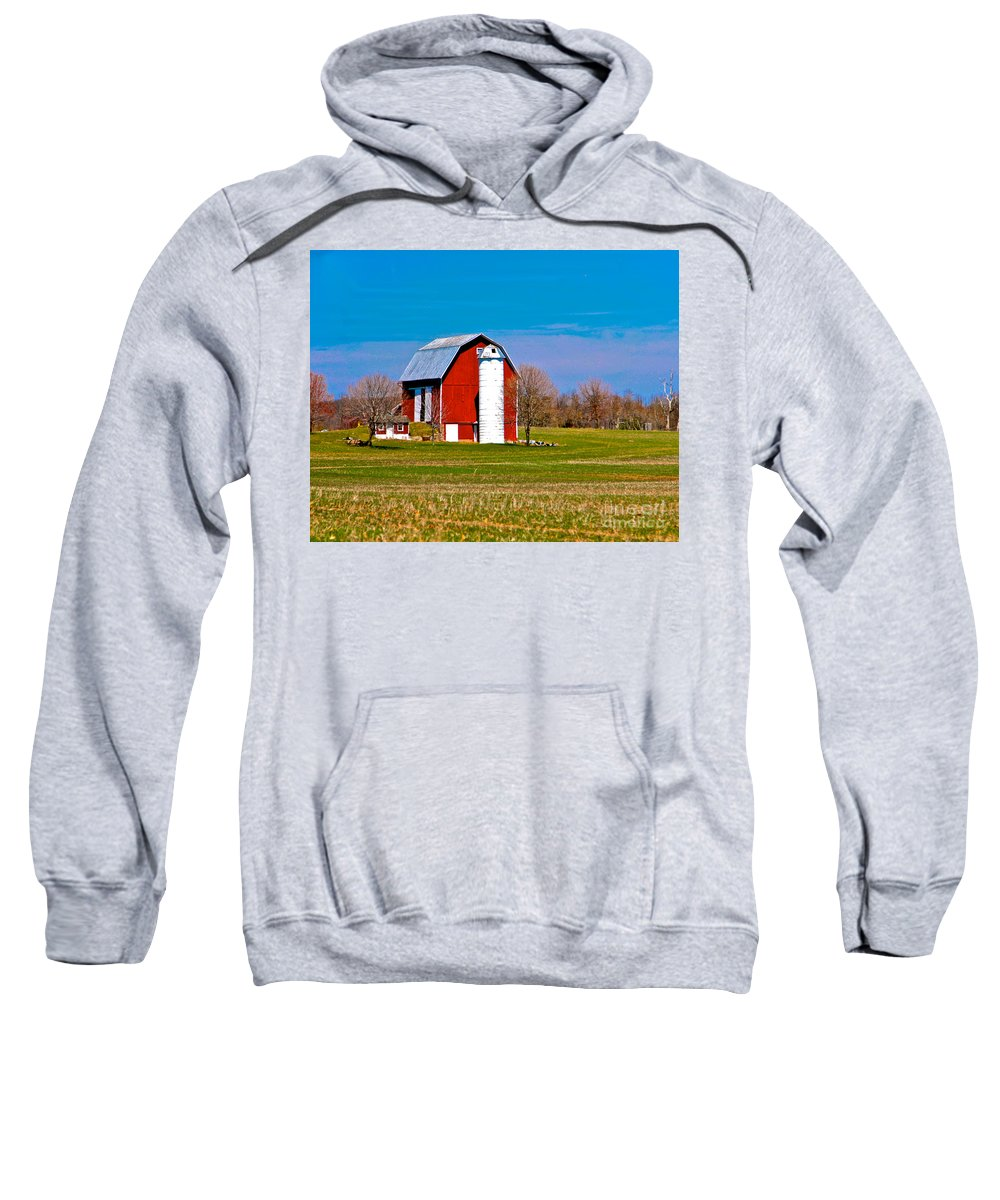 Barn Sweatshirt featuring the photograph Spring Time On The Farm by Robert Pearson