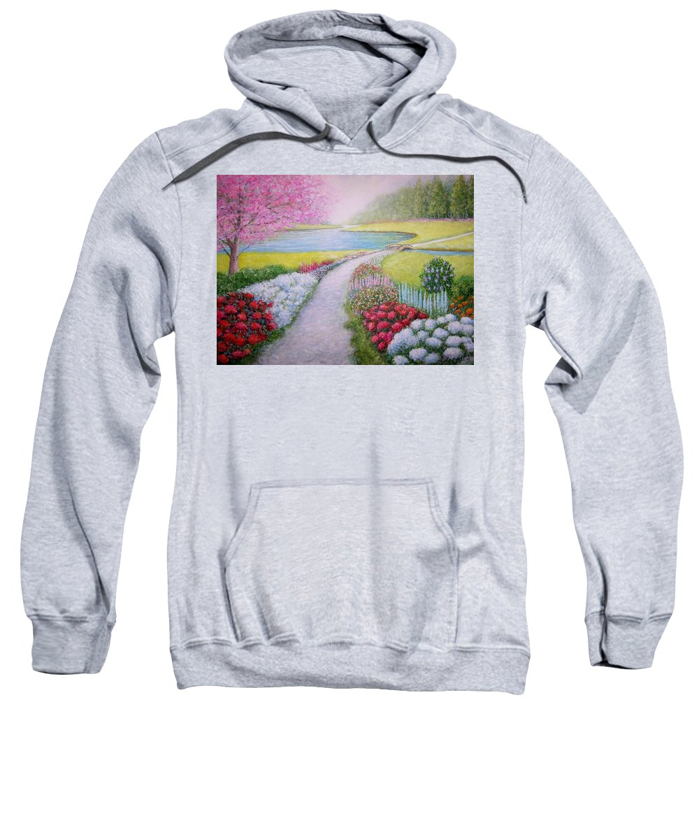 Landscape Sweatshirt featuring the painting Spring by William H RaVell III