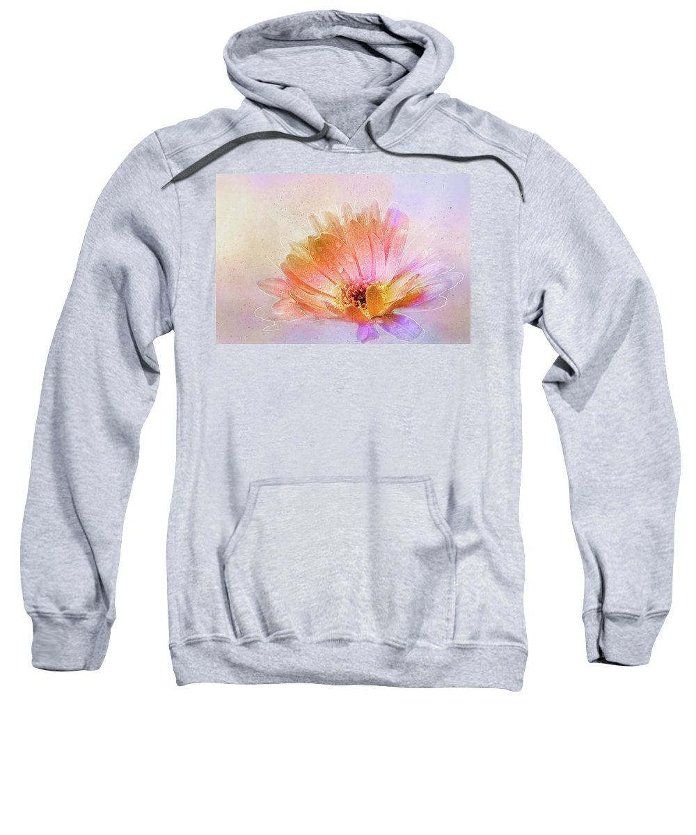 Daisy Sweatshirt featuring the digital art Spring's Own Herald by Terry Davis