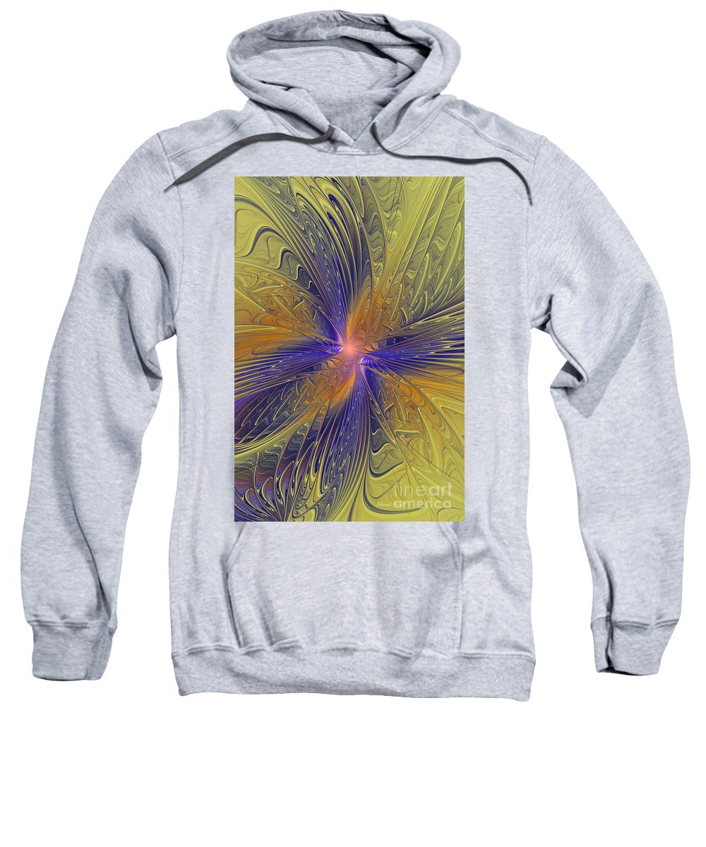Fractal Sweatshirt featuring the photograph Springtime Dreams by Deborah Benoit