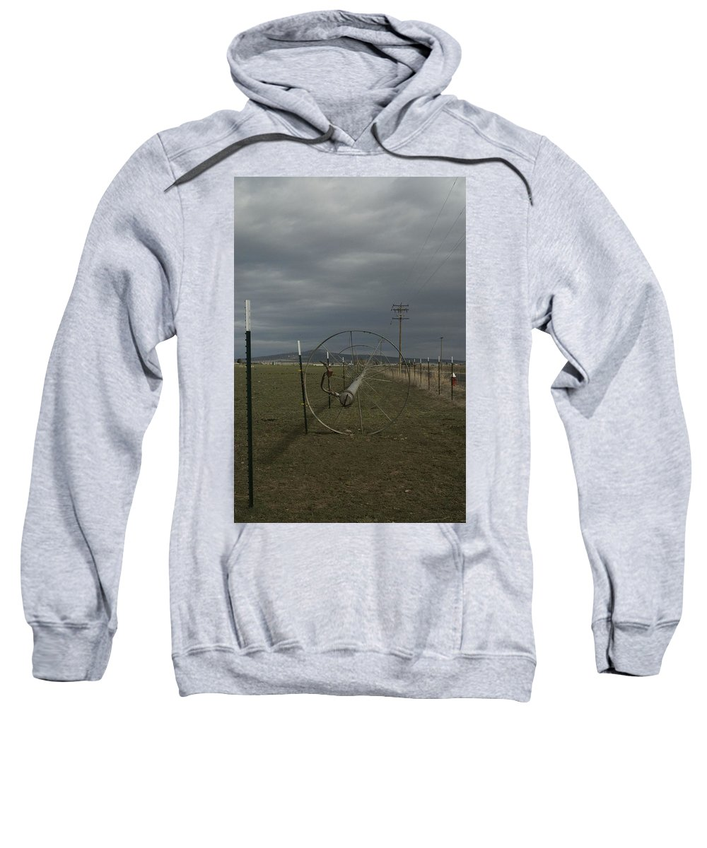 Irrigation Sweatshirt featuring the photograph Sprinkler 2 by Sara Stevenson