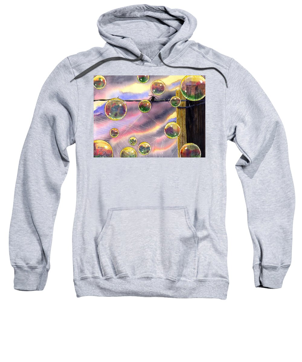 Bubbles Sweatshirt featuring the painting Spyder by Catherine G McElroy