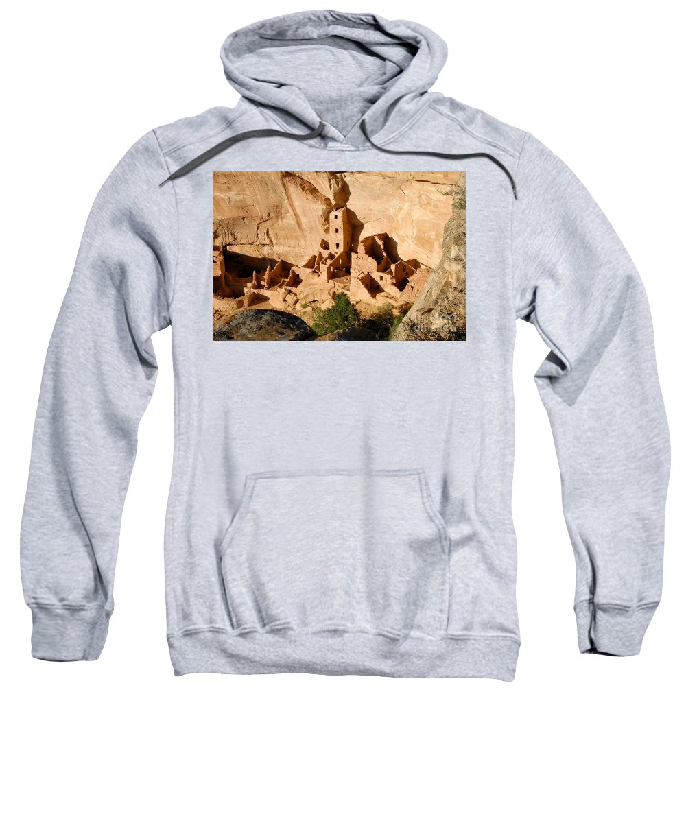 Square Tower Sweatshirt featuring the photograph Square Tower Ruin by David Lee Thompson