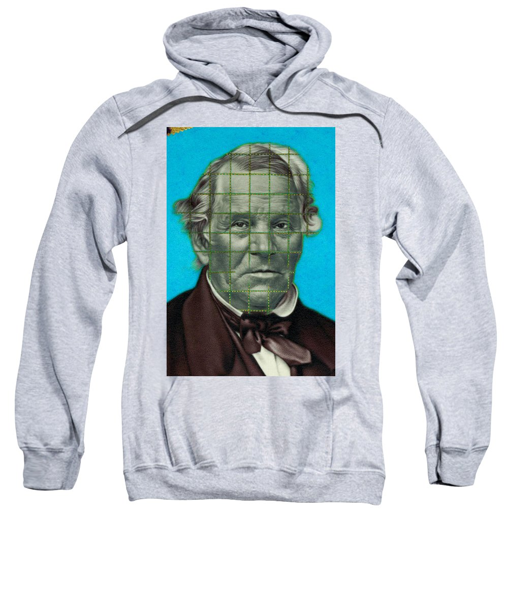 Photorealism Sweatshirt featuring the drawing Squared Senator Detail by Chuck Bowden