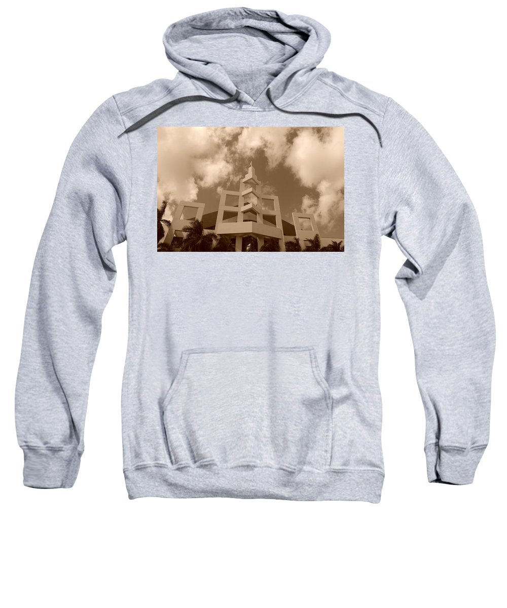 Architecture Sweatshirt featuring the photograph Squares In The Sky by Rob Hans