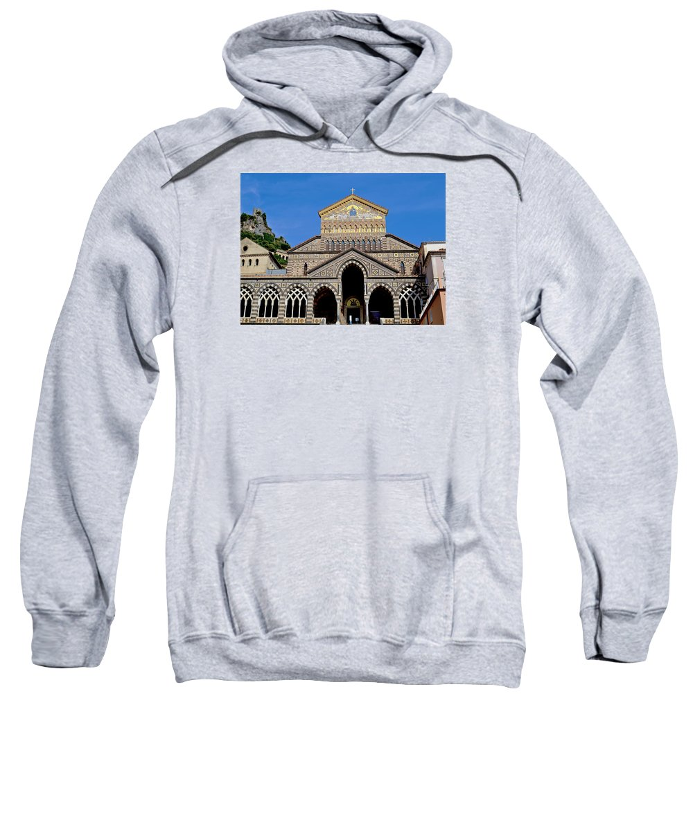 St Andrews Sweatshirt featuring the photograph St Andrews Cathedral In Amalfi by Jeffrey Hamilton