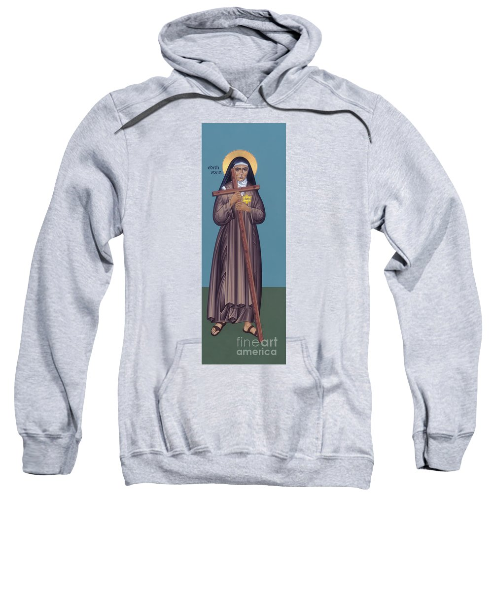 St. Edith Stein Sweatshirt featuring the painting St. Edith Stein - Rlste by Br Robert Lentz OFM