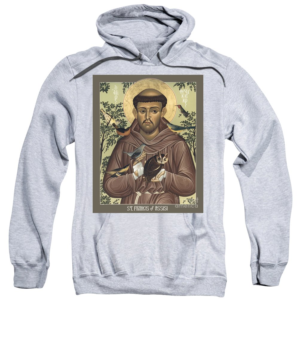 St. Francis Of Assisi Sweatshirt featuring the painting St. Francis Of Assisi - Rlfoa by Br Robert Lentz OFM