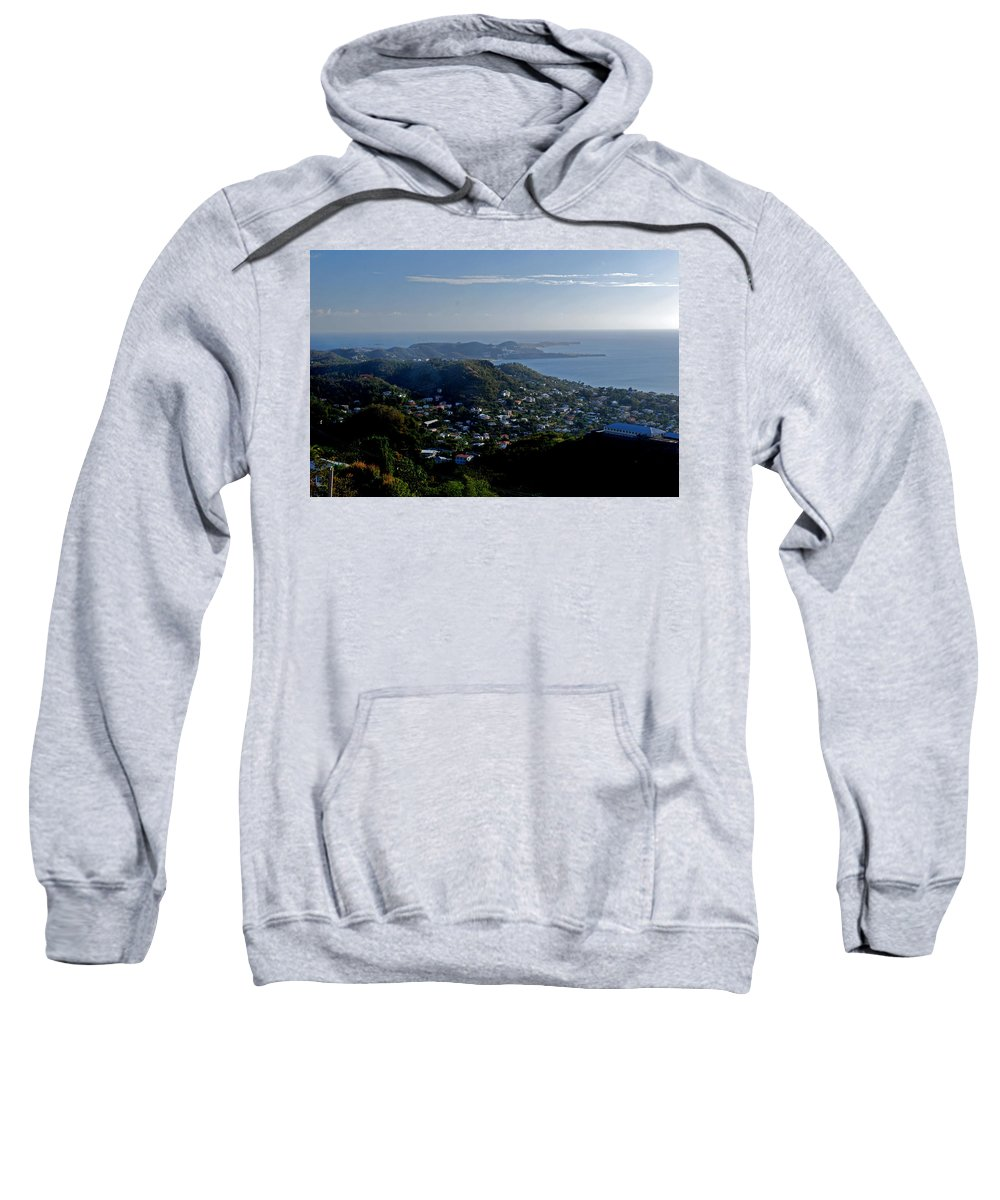 Sunset Sweatshirt featuring the photograph St. George's Grenada by Gary Wonning
