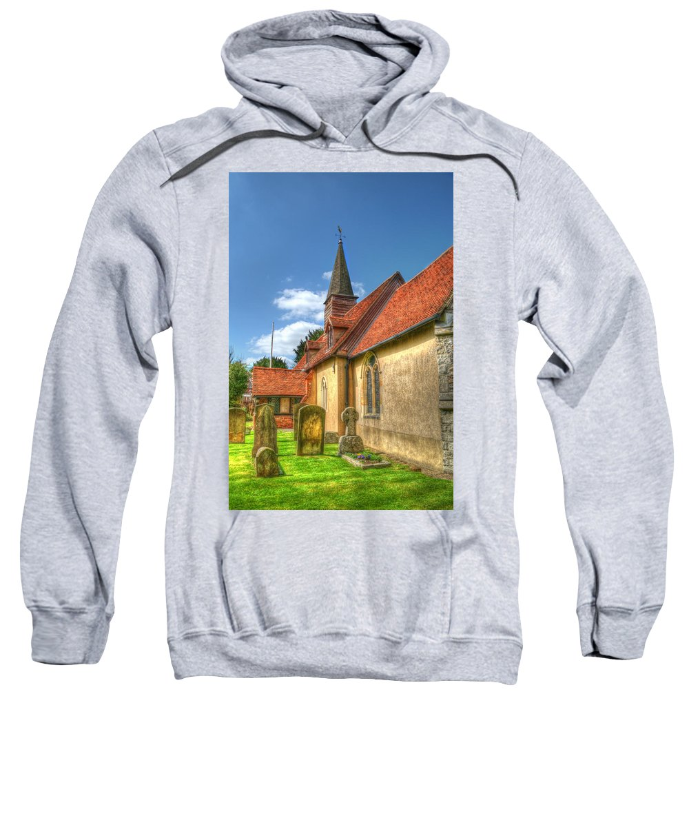 St Giles Church Sweatshirt featuring the photograph St Giles Ickenham by Chris Day
