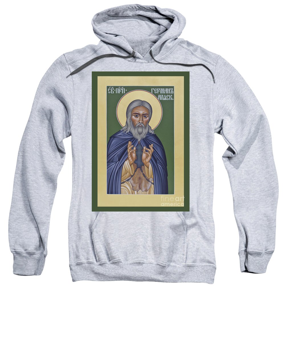 St. Herman Of Alaska Sweatshirt featuring the painting St. Herman Of Alaska - Rlala by Br Robert Lentz OFM