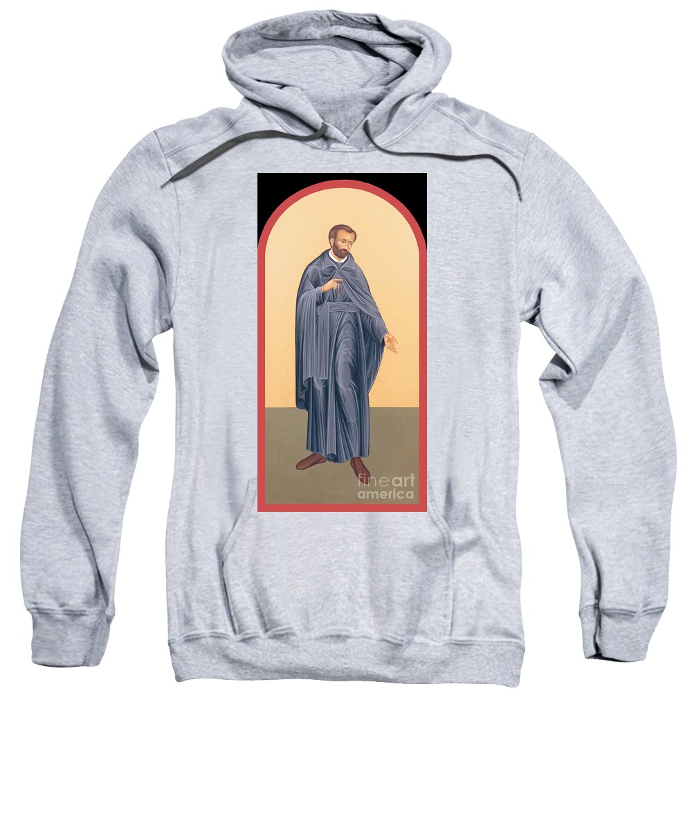 St. Isaac Jogues Sweatshirt featuring the painting St. Isaac Jogues, Sj - Rlisj by Br Robert Lentz OFM