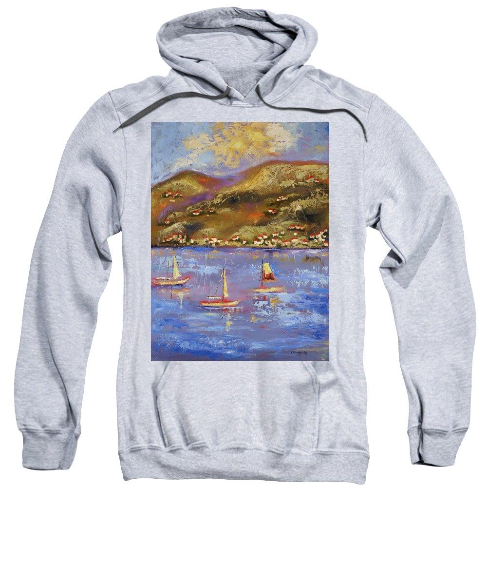 St. John Sweatshirt featuring the painting St. John Usvi by Ginger Concepcion