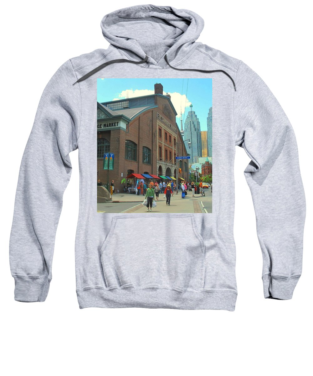 Market Sweatshirt featuring the photograph St Lawrence Market by Ian MacDonald