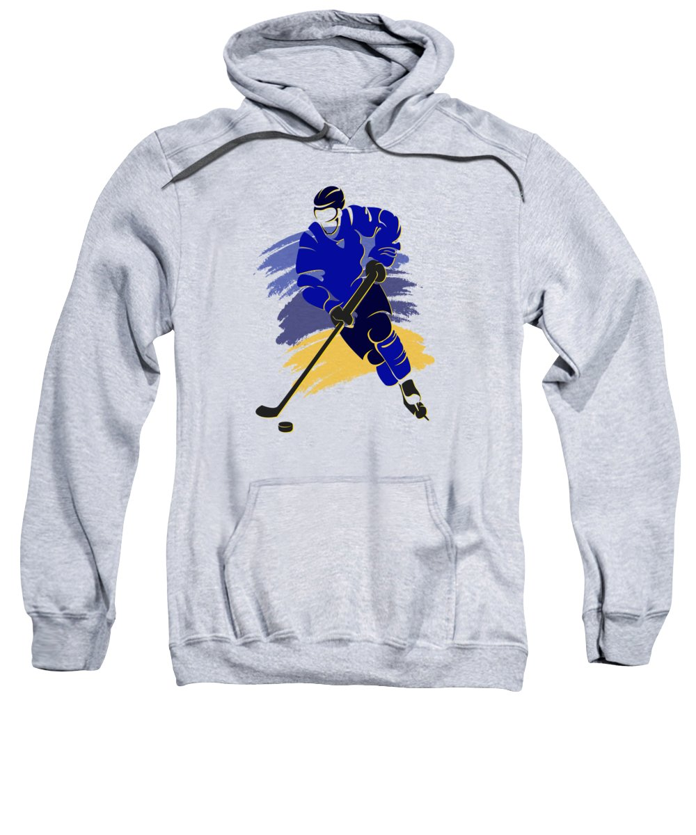 Blues Sweatshirt featuring the photograph St Louis Blues Player Shirt by Joe Hamilton