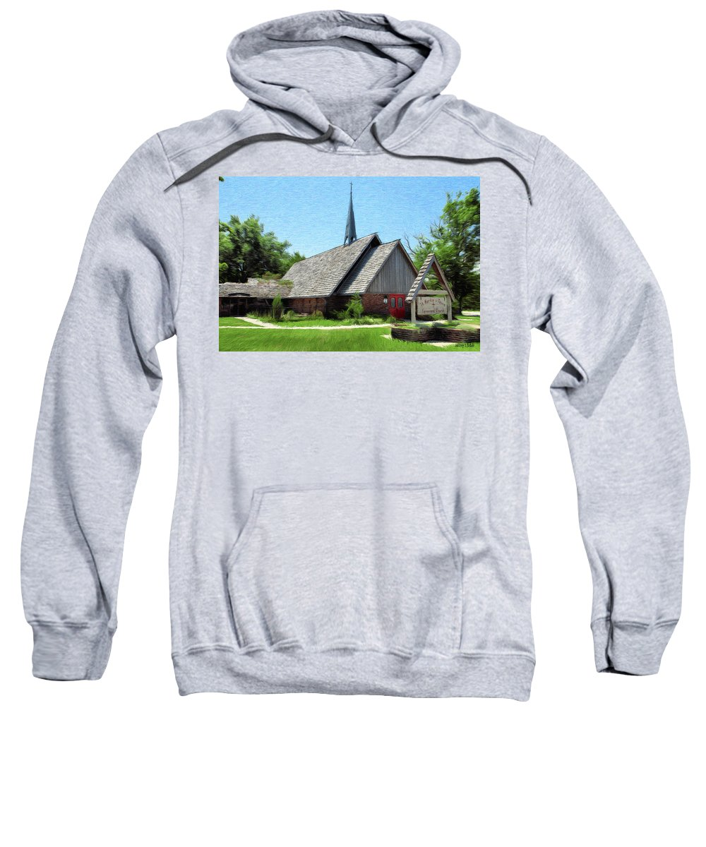 Architecture Sweatshirt featuring the painting St Martin Of Tours by Jeffrey Kolker