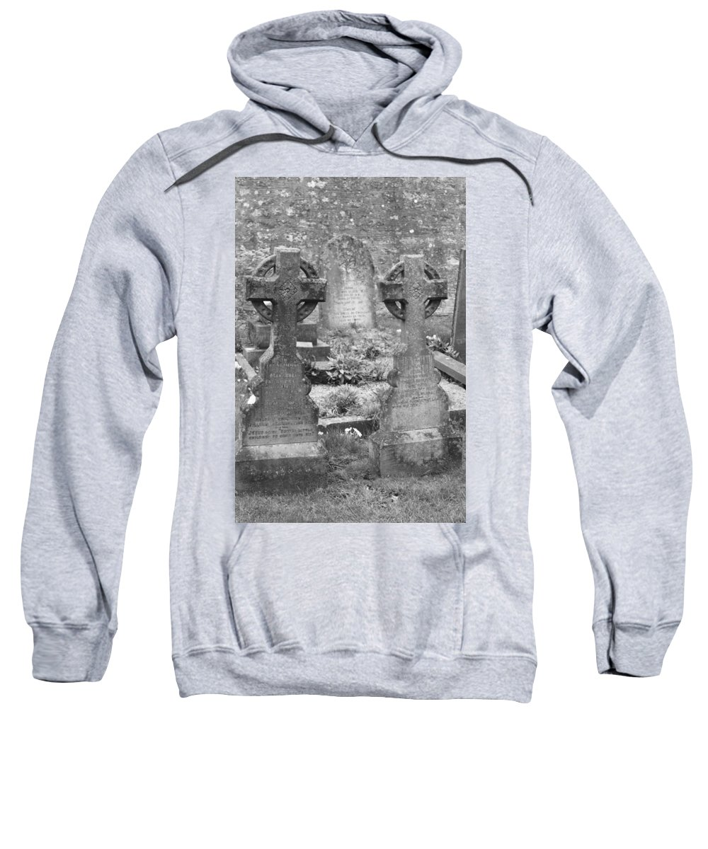 Tombstones Sweatshirt featuring the photograph St. Mary by Lauri Novak