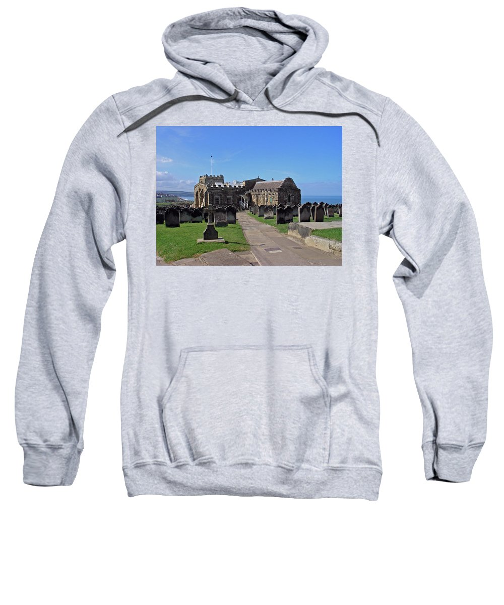 Europe Sweatshirt featuring the photograph St Mary's Church - Whitby by Rod Johnson