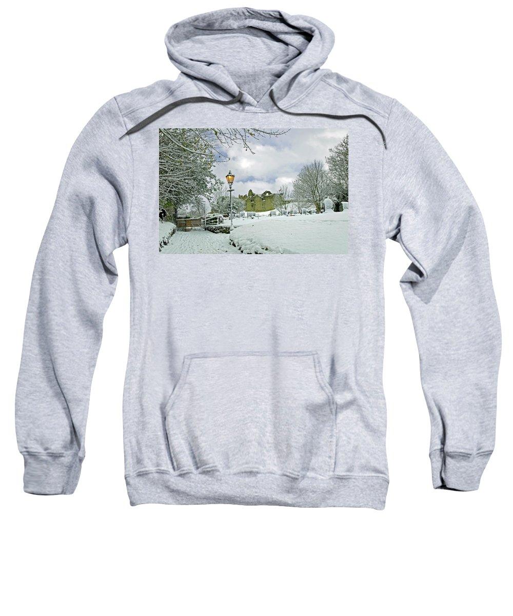 England Sweatshirt featuring the photograph St Mary's Churchyard - Tutbury by Rod Johnson
