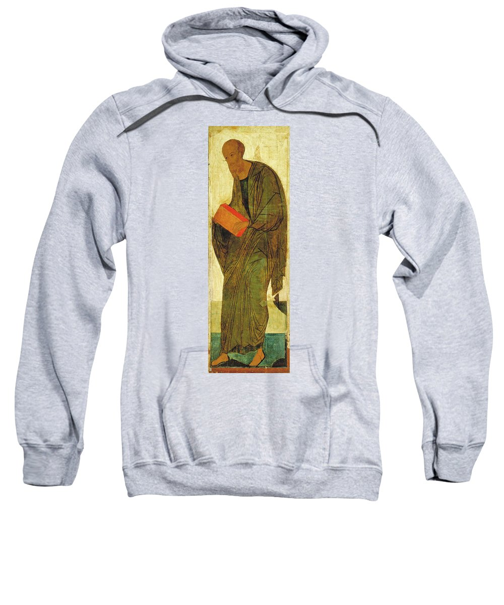 Andrei Rublev Sweatshirt featuring the painting St Paul. From Deisus Tier by Andrei Rublev