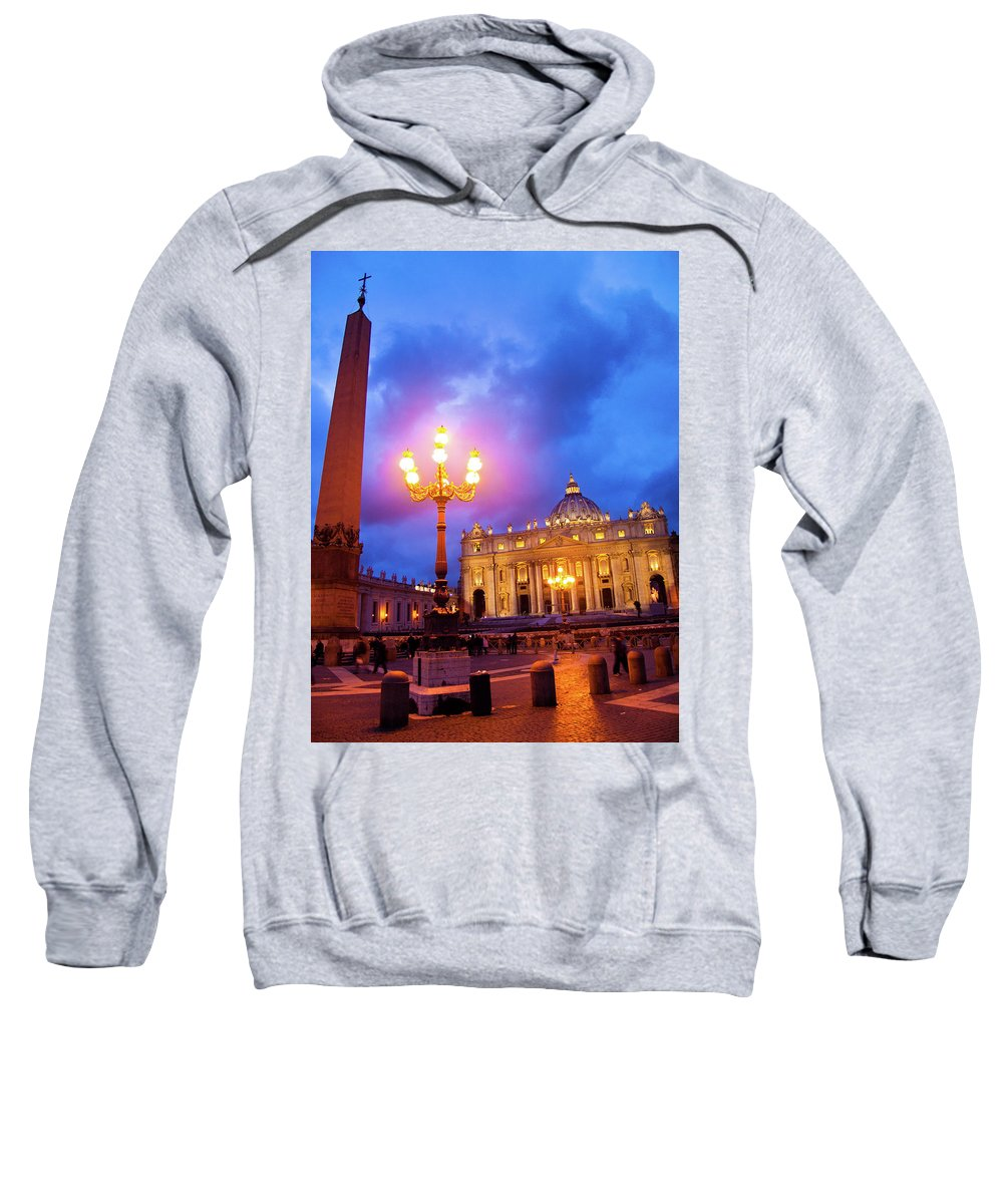 Architecture Sweatshirt featuring the photograph St. Peters Cathedral At Night by Steven Myers