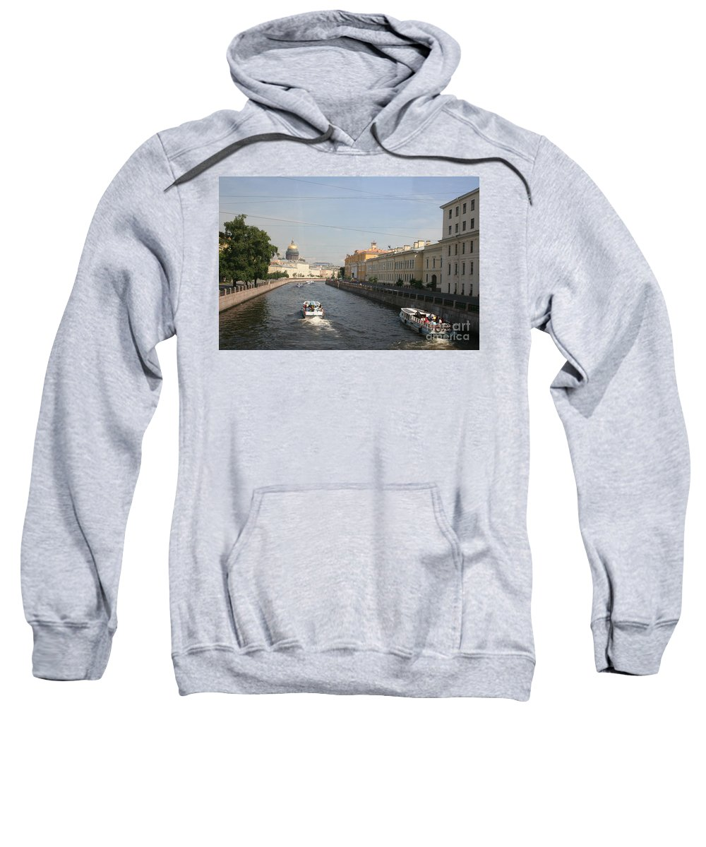 Canal Sweatshirt featuring the photograph St. Petersburg Canal - Russia by Christiane Schulze Art And Photography