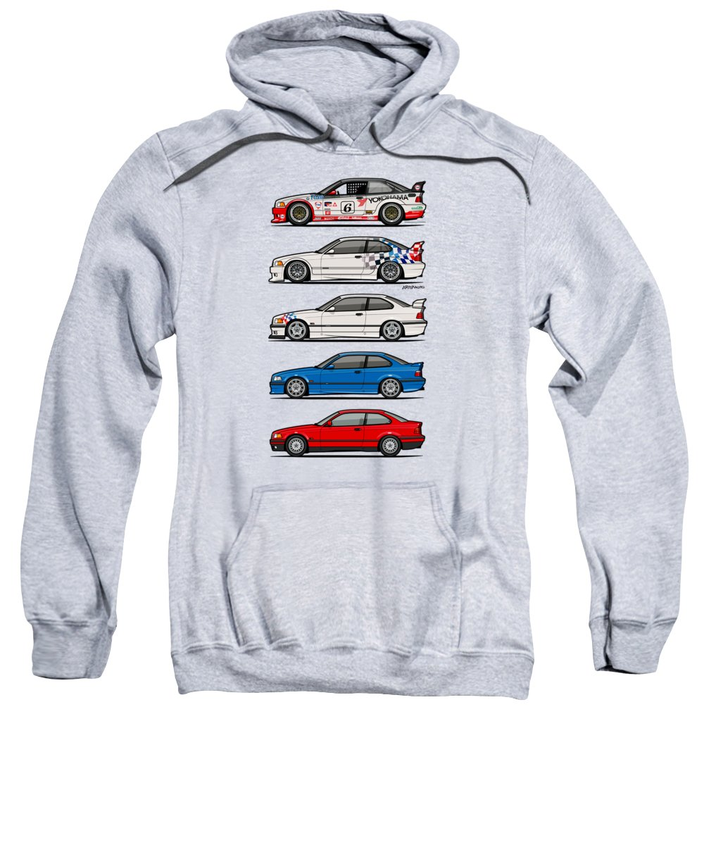 Stack Of Bmw 3 Series E36 Coupes Sweatshirt